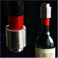 vácuo do aço inoxidável inteligente tampa de garrafa selada rolha de garrafa de armazenamento de vinho tinto