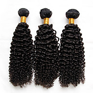 3kpl paljon Intian Kinky kiharat neitsyt hiukset käsittelemätön hiuksista kutoa niput intialainen syvä kihara aalto luonnon musta