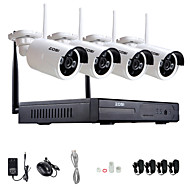 zosi®960p / 720p hdmi NVR 4pcs 1.3 mp kit ir p2p extérieur cctv ip sans fil de surveillance du système de caméra de sécurité
