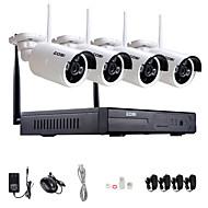 zosi®960p / 720p hdmi NVR 4stk 1,3 mp ir udendørs p2p trådløs ip CCTV kamera sikkerhed overvågningssystem kit