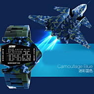 SKMEI® Men's  Digital Silicone Band 30m Water-resisstant Multi-Functional Dual Time Zones Sports Watch Cool Watch Unique Watch
