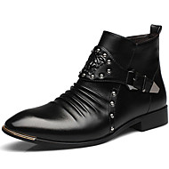 Men's Shoes Wedding / Office & Career / Party & Evening / Dress / Casual Synthetic Boots Black