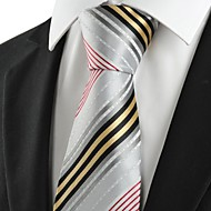 New Striped Golden Red Grey Business Formal Men's Tie Necktie Holiday Gift #1003