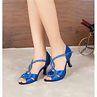 Sapatos de Dança(Preto / Azul) -Feminino-Personalizável-Latina / Jazz / Salsa / Samba / Sapatos de Swing