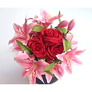 Wedding Flowers Free-form Roses / Lilies Bouquets