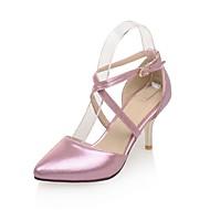 Calçados Femininos-Saltos-Saltos / Bico Fino-Salto Agulha-Rosa / Prateado / Dourado-Courino-Social / Festas & Noite