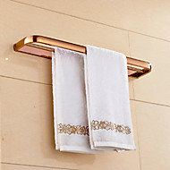 Rose Gold-plated Brass Material Double Towel Bar
