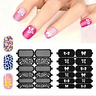 1 Neglekunst Klistermærke Udstandsningsskabelon til manicure 3D Negle Stickere Abstrakt Makeup Kosmetik Neglekunst Design