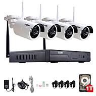 zosi®960p / 720p hdmi NVR 1TB hdd 4stk 1,3 mp ir udendørs p2p trådløs ip CCTV kamera sikkerhed overvågningssystem kit