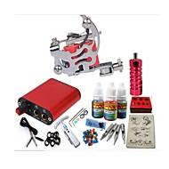 tatuagem basekey kit jh550 1 máquina com apertos de alimentação 3x10 ml de tinta