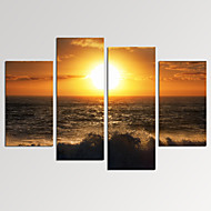 VISUAL STAR®Sunrise on Sea Picture Print on Canvas for Home Decoration Ready to Hang