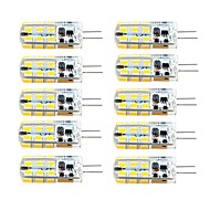 10pcs G4 3W 24led 2835SMD 260LM 3000K/6000K Warm White/Cool White Light Lamp Bulb(AC/DC 10-20V AC200-240V)