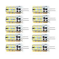 3W G4 LED-lamper med G-sokkel T 81 SMD 2835 260 lm Varm hvit / Kjølig hvit Dimbar AC 220-240 / DC 12 / AC 12 V 10 stk.
