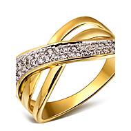Gyűrűk,Arannyal bevont Esküvő / Parti / Napi / Hétköznapi / N/A Ékszerek Kocka cirkónia / Réz / Platina bevonat / Arannyal bevont Női