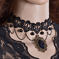 Necklace Choker Necklaces / Gothic Jewelry / Torque Jewelry Halloween / Wedding / Party / Daily / Casual Fashion Lace / Fabric Black 1pc