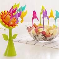 5pcs Sunflower Fruit Fork