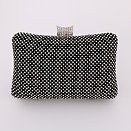 Women Metal Formal / Event/Party / Wedding / Office & Career Mobile Phone Bag Gold / Silver / Black