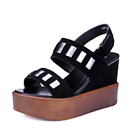 Women's Shoes Wedge Heel Wedges / Peep Toe / Platform Sandals Dress Black
