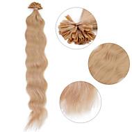 """Neitsi 20"""" 1g/s Keratin Fusion U Nail Tip Natural Wave 100% Human Hair Extensions 14#"""