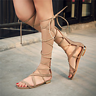 נעלי נשים-סנדלים-דמוי עור-גלדיאטור / חדשני-שחור / חום / בז'-קז'ואל / מסיבה וערב / שמלה-עקב שטוח