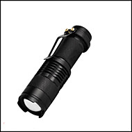 Lights LED Flashlights/Torch LED 350 Lumens 3 Mode LED 14500 / AAAAdjustable Focus / Waterproof / Impact Resistant / Clip / Emergency /