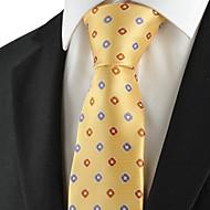 Check Pattern Purple Golden Mens Tie Formal Necktie Wedding Holiday Gift KT1042