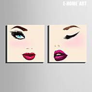 Ritratti Print Canvas Due pannelli Pronto da appendere,Quadrato