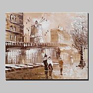 20x25cm을 중단 할 준비가 캔버스 하나의 패널에있는 미니 사이즈의 손으로 그린 파리의 도시 풍경 현대 유화