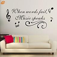 Palavras e Citações / Romance / Moda / Abstracto / Fantasia Wall Stickers Autocolantes de Aviões para Parede,PVC M:42*85cm/ L:55*112cm