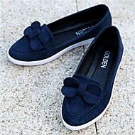 נעלי נשים-שטוחות-פליז-נוחות-שחור / כחול / אדום-שטח / קז'ואל-עקב שטוח
