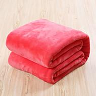 Coral Fleece Modrá / Hnědá / Zelená / Šedá / Růžová / Fialová / Červená / Oranžová,Jednolitý Jednolitý 50% akryl / 50% bavlna přikrývkyas