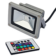 LED Floodlight 1 Integrate LED lm RGB Remote-Controlled AC 85-265 V