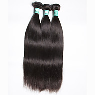 Brazilian Straight Hair 3 Bundles Total 300g Unprocessed Virgin Human Hair Weave Extensions