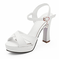 Women's Shoes Chunky Heels/Platform/Sling back/Open Toe Sandals Party & Evening/Dress Black/Pink/White/Beige