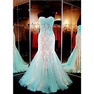 Formal Evening Dress-Multi-color Trumpet/Mermaid Sweetheart Floor-length Lace / Tulle
