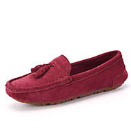 Women's Shoes Suede Flat Heel Comfort Loafers Office & Career / Casual Pink / Gray / Burgundy