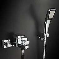 Shower Faucet Contemporary / Thermostatic / Handshower Included Brass Chrome