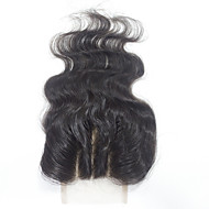 """10""""12""""14""""16""""18""""20""""22""""24"""" Helblonde Krop Bølge Remy-hår stenging Medium brun Sveitsisk blonde 60 gram Størrelse på lue"""