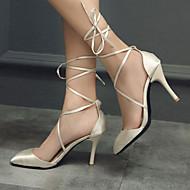Women's Shoes Silk Stiletto Heel Heels / Peep Toe Sandals / Heels Outdoor / Dress / Casual Black / Purple / Red / Beige