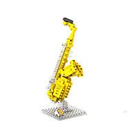 Bausteine Für Geschenk Bausteine Model & Building Toy Musik Instrumente ABS 8 bis 13 Jahre Gelb Spielzeuge