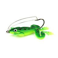 """4 יח ' צפרדע ירוק 5g g/1/6 אונקיה,60mm mm/2-3/8"""" אינץ ',פלסטיק רך דיג בים / Spinning / דייג במים מתוקים / דיג בס / דיג בפתיון / דיג כללי"""