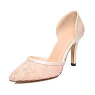 נעלי נשים-בלרינה\עקבים-תחרה / דמוי עור-עקבים / שפיץ ושני חלקים / שפיץ-שחור / ורוד / חרדל-חתונה / שמלה / מסיבה וערב-עקב סטילטו