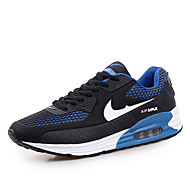 Running Shoes Men's Shoes Outdoor Fashion Sports Shoes Leisure Microfiber Fabric Shoes Blue / Red / Black