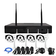 YanSe® Wireless NVR Kit 960P HD IR Night Vision Security IP Camera WIFI CCTV System (Plug and Play,Need to set) P2P