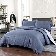 Simple Opulence Duvet Cover Set Polyester luxury Printed Lake Blue Include Quilt Cover Pillow Cases Queen King
