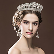 Gorgeous Women's Rhinestone Wedding Bridal Tiaras Earring Set Party Headpiece HG2330