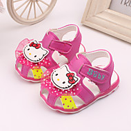 Girl's Sandals Spring / Summer Round Toe / Open Toe Leather Dress / Casual Blue / Pink / Peach
