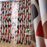 Two Panels Modern Novelty Living Room Polyester Blackout Curtains Drapes