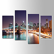 U2art®Landscape Canvas Print Scenery Four Panels Ready to Hang , Vertical For Living Room(No Frame)