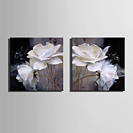 Mini Size E-HOME Oil painting Modern White Flowers Pure Hand Draw Frameless Decorative Painting